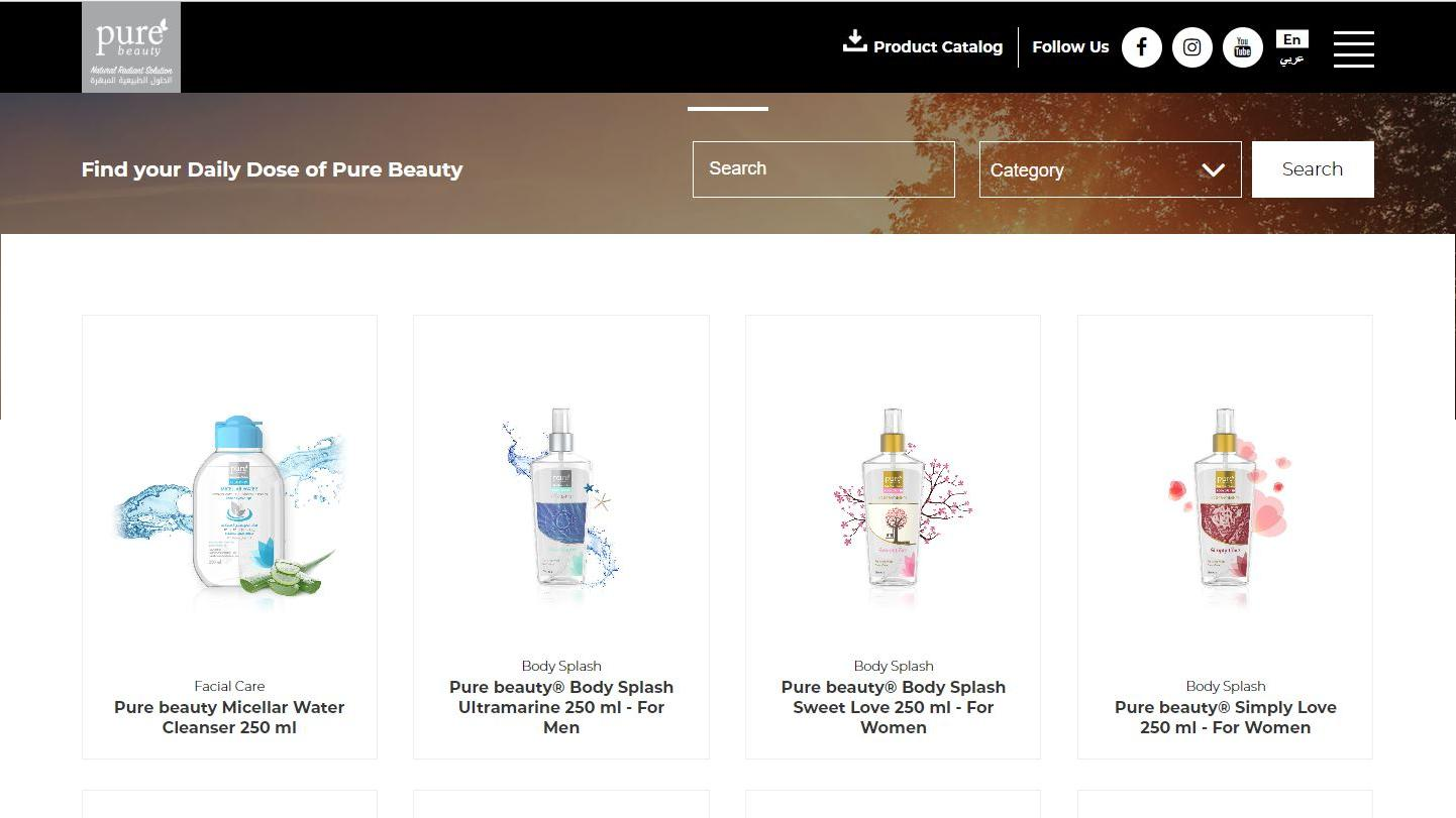 Pure Beauty Launched Its New Website
